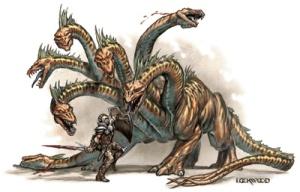 Hidra de Lerna e Herácles - Extraído do Google Imagens
