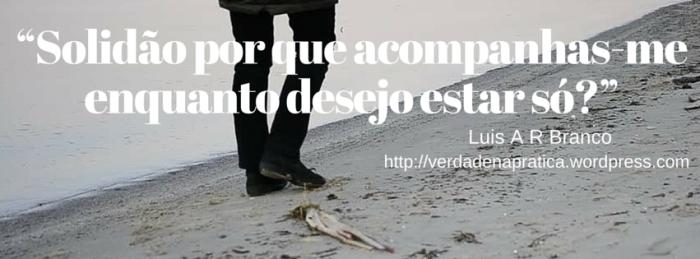 """""""Solidão por que acompanhas-me enquanto desejo estar só?""""Excerto de_ Luis Alexandre Ribeiro Branco. """"Versos Meus."""" iBooks."""